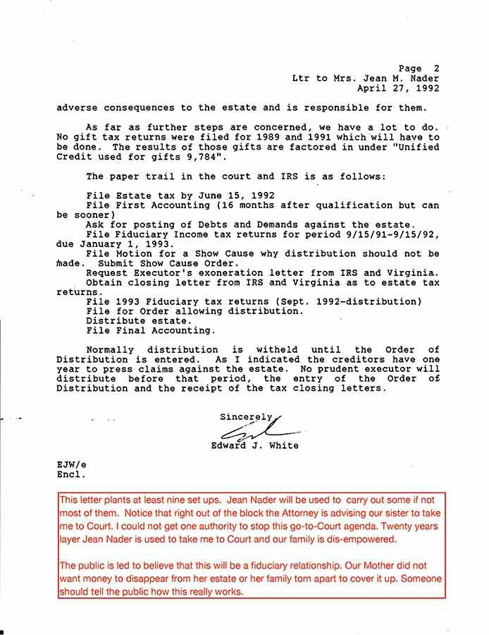 Follow the trailsarizona virginiaazdvs the lynch note disappears between the first estate court account and the second estate court account with no explanation spiritdancerdesigns Gallery